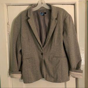 Grey Sweatshirt Blazer
